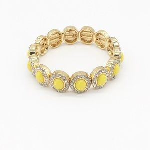 NEW J. Crew Yellow Gold Jewel Bracelet